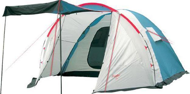 Палатка CANADIAN CAMPER RINO 5 (цвет royal)30500001Canadian Camper RINO 5 - вместительная кемпинговая палатка с тамбуром, одной спальней на 5 человек и двумя входами (один в тамбуре, один в спальне), которые защищены от насекомых москитной сеткой. Строение палатки позволяет над входом установить козырек, укрывающий от солнечных лучей. Высокая водостойкость модели позволяет ее использовать даже в сезон дождей. Ткань палатки изготовлена по технологии с усиленным плетением, что в разы повышает ее прочность.