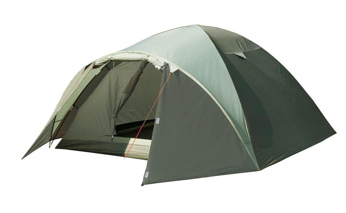 Палатка Trek Planet Denver Air 4 четырехместная70178Четырехместная палатка куполообразной формы Trek Planet Denver Air 4 с отличной вентиляцией, вместительным тамбуром и двумя входами, отлично подходит для длительного путешествия. Особенности модели: Простая и быстрая установка. Тент палатки из полиэстера, с пропиткой PU водостойкостью 3000 мм, надежно защищает от дождя, все швы проклеены. Дно палатки из прочного полиэстера Oxford водостойкостью 6000 мм. Каркас из жестких, прочных и легких композитных дуг (Durapol). Внутренняя палатка из дышащего полиэстера, обеспечивает вентиляцию помещения и позволяет конденсату испаряться, не проникая внутрь палатки. Два входа во внутреннюю палатку с противоположных сторон тента. Удобная D-образная дверь с москитной сеткой в полный размер на каждом входе во внутреннюю палатку. Вентиляционное окно. Внутренние карманы для мелочей. Возможность подвески фонаря в палатке. Для удобства транспортировки и хранения предусмотрен...