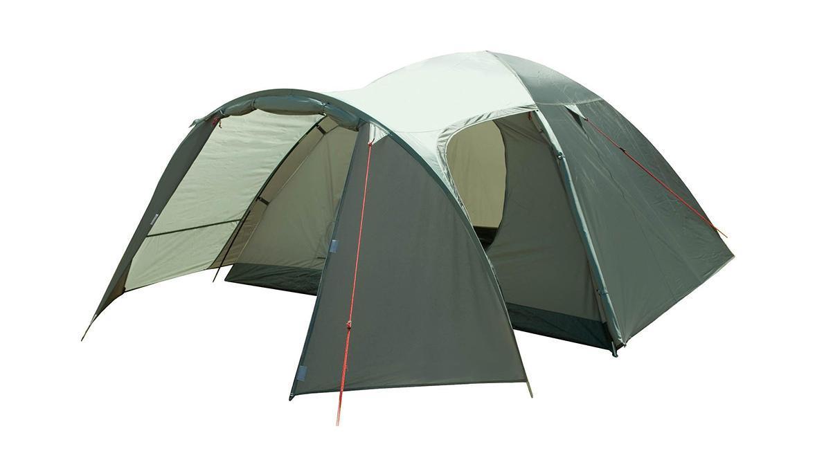 Палатка Trek Planet Boston Air 4 четырехместная70186Четырехместная палатка Trek Planet Boston Air 4 с отличной вентиляцией, большим тамбуром и двумя входами во внутреннюю палатку отлично подходит для длительного путешествия. Особенности модели: Простая и быстрая установка. Тент палатки из полиэстера, с пропиткой PU водостойкостью 3000 мм, надежно защищает от дождя, все швы проклеены. Просторный тамбур с двумя входами. Каркас из жестких, прочных и легких композитных дуг (Durapol). Дно палатки из прочного полиэстера Oxford водостойкостью 6000 мм. Боковая дверь тамбура закрывается молнией, спрятанной под внешним тентом, что препятствует попаданию влаги через молнию во время дождя. Внутренняя палатка из дышащего полиэстера, обеспечивает вентиляцию помещения и позволяет конденсату испаряться, не проникая внутрь палатки. Два входа во внутреннюю палатку с противоположных сторон тента. Удобная D-образная дверь с москитной сеткой в полный размер двери на каждом входе во внутреннюю...