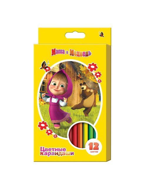 Цветные карандаши Маша и Медведь, 12 цветов14223Любимые герои теперь - и на карандашах. Они трехгранные, что позволяет удобно держать их в детской ручке. Характеристики: Длина карандаша: 17 см. Материал: грифель, дерево. Размер упаковки: 11 см х 18 см х 1 см. Изготовитель: Китай.