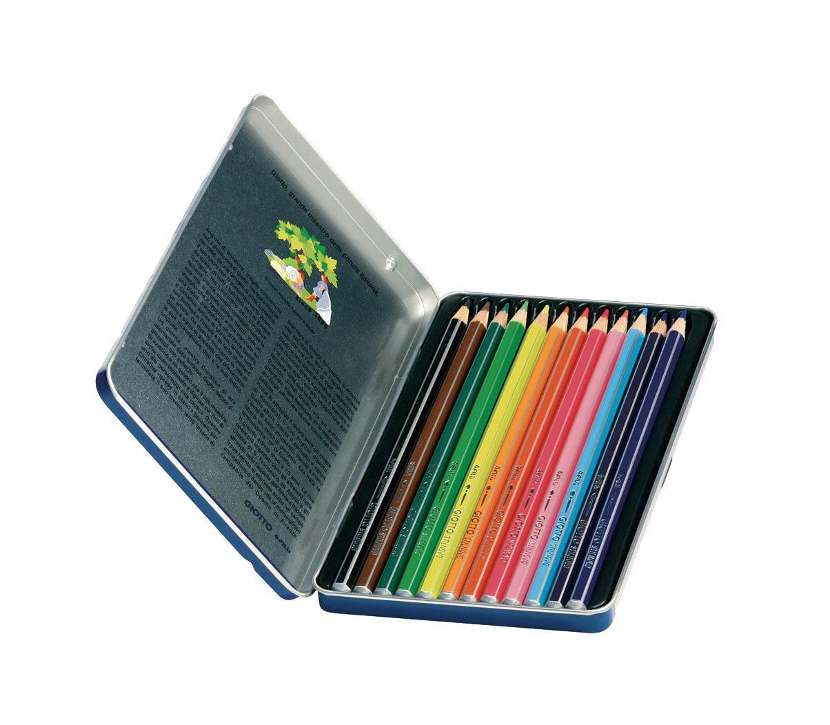 Цветные карандаши Giotto Stilnovo Acquarell, металлической упаковке, 12 цвета256200От производителя Цветные карандаши Glotto Stilnovo Acquarell непременно, понравятся вашему юному художнику. Набор включает в себя 12 ярких насыщенных акварельных цветных карандаша гексагональной формы с серебряным нанесением по ребру грани. Идеально подходят для школы. Карандаши изготовлены из сертифицированного дерева, экологически чистые, имеют прочный неломающийся грифель, не требующий сильного нажатия и легко затачиваются. На рубашке карандаша имеется место для нанесения имени. Порадуйте своего ребенка таким восхитительным подарком! Набор упакован в удобную металлическую коробку. Цветные карандаши Glotto Stilnovo Acquarell непременно, понравятся вашему юному художнику. Набор включает в себя 12 ярких насыщенных акварельных цветных карандаша гексагональной формы с серебряным нанесением по ребру грани. Идеально подходят для школы. Карандаши изготовлены из сертифицированного дерева, экологически чистые, имеют прочный неломающийся грифель, не требующий...