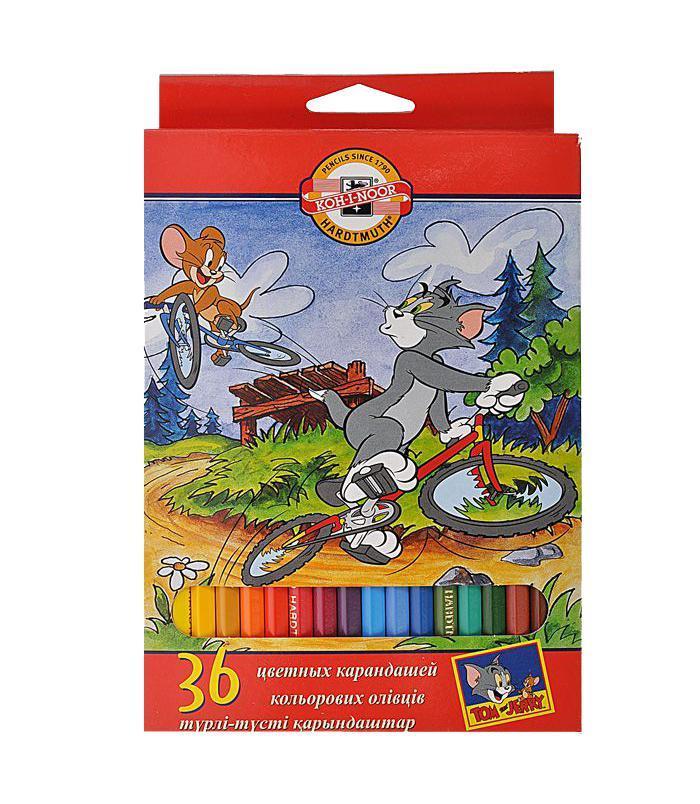 Карандаши цветные Tom And Jerry, 36 цветов09-3608От производителя Цветные карандаши Tom And Jerry откроют юным художникам новые горизонты для творчества, а также помогут отлично развить мелкую моторику рук, цветовое восприятие, фантазию и воображение. Традиционный шестигранный корпус изготовлен из натуральной древесины, гладкость которого обеспечена многослойной покраской. Корпус карандашей окрашен под цвет грифеля. Комплект включает 36 карандашей ярких насыщенных цветов. Карандаши уже заточены, поэтому все, что нужно для рисования - это взять чистый лист бумаги, и можно начинать! Цветные карандаши Pastelky откроют юным художникам новые горизонты для творчества, а также помогут отлично развить мелкую моторику рук, цветовое восприятие, фантазию и воображение. Традиционный шестигранный корпус изготовлен из натуральной древесины, гладкость которого обеспечена многослойной покраской. Цветные карандаши Pastelky откроют юным художникам новые горизонты для творчества, а также помогут отлично...