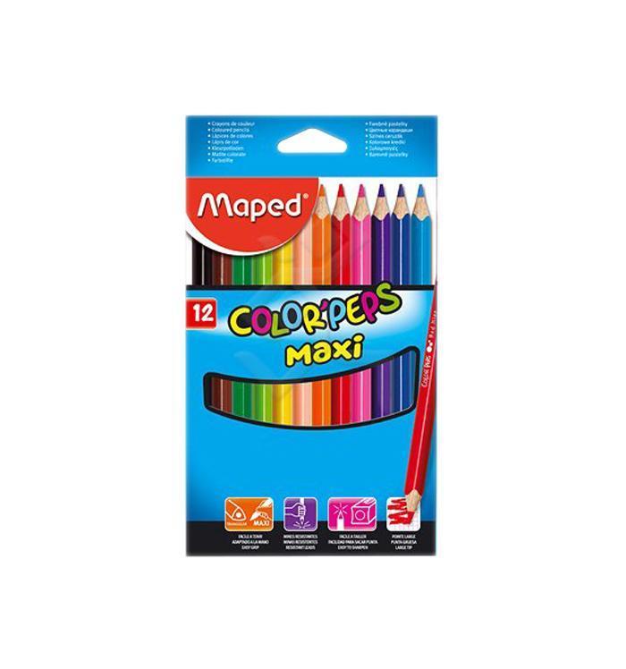 Карандаши цветные Maped Color Peps Maxi, 12 цветов834010В процессе рисования у малышей развивается наглядно-образное мышление, воображение, мелкая моторика рук, творческие и художественные способности, вырабатывается усидчивость и аккуратность. Набор содержит карандаши 12 ярких насыщенных цветов. Все карандаши предварительно заточены. Цветные карандаши Color Peps Maxi разработаны специально для самых маленьких художников, которые только начинают свой творческий путь. Эргономичный трехгранный корпус из американской липы особенно удобен для маленьких детских ручек. Специальное покрытие и многослойная лакировка уменьшают скольжение, что делает процесс рисования максимально комфортным. Мягкий, ударопрочный грифель не ломается и не крошится при заточке, а его утолщенный диаметр позволяет получать более широкую и насыщенную линию. В процессе рисования у малышей развивается наглядно-образное мышление, воображение, мелкая моторика рук, творческие и художественные способности, вырабатывается усидчивость и...