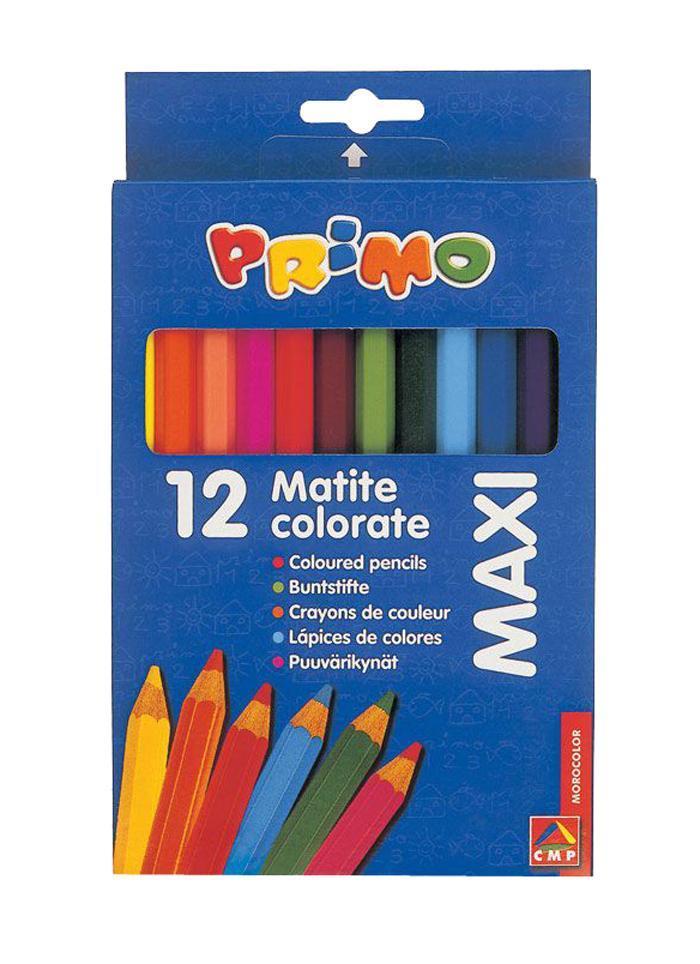 Цветные карандаши деревянные MAXI 12 цветов51000013Карандаши легко ложатся на различные типы бумаги и другие поверхности. Подходят для достижения всего широкого списка визуальных эффектов получаемых с помощью карандашей. Штрихи могут накладываться один на другой или пересекаться для достижения мягкого эффекта светотени. Прозрачные и блестящие оттенки могут быть получены с помощью размывания штрихов влажной кисточкой или бумагой. Карандаши уже заточены, поэтому все, что нужно для рисования - это взять чистый лист бумаги, и можно начинать! Набор цветных карандашей Primo Maxi состоит из 12 разноцветных карандашей с утолщенным шестигранным корпусом, идеально подходящих для малышей. Карандаши имеют прочный грифель, а использование качественной древесины делает карандаши легко затачиваемыми. Пигменты, входящие в состав грифеля, обеспечивают ровное письмо и сочные натуральные цвета. Карандаши легко ложатся на различные типы бумаги и другие поверхности. Подходят для достижения всего широкого списка...
