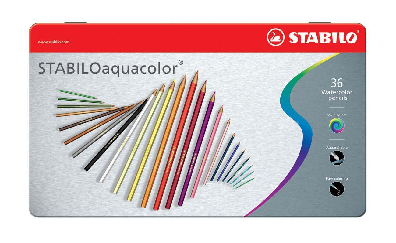 """Карандаши цветные Stabilo """"Aquacolor"""" в металлическом футляре, 36 цветов 1636-5"""