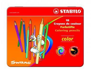 Карандаши цветные Stabilo Color в металлическом футляре, 18 цветов1818-77Серия цветных карандашей STABILO color в металлических футлярах. Широкая гамма цветов, которые отлично смешиваются и позволяют создавать огромное количество оттенков. Насыщенные цвета имеют высокую светостойкость. Мягкий грифель легко рисует на бумаге, не царапая ее и не крошась. Карандаши не ломаются при рисовании и затачивании.
