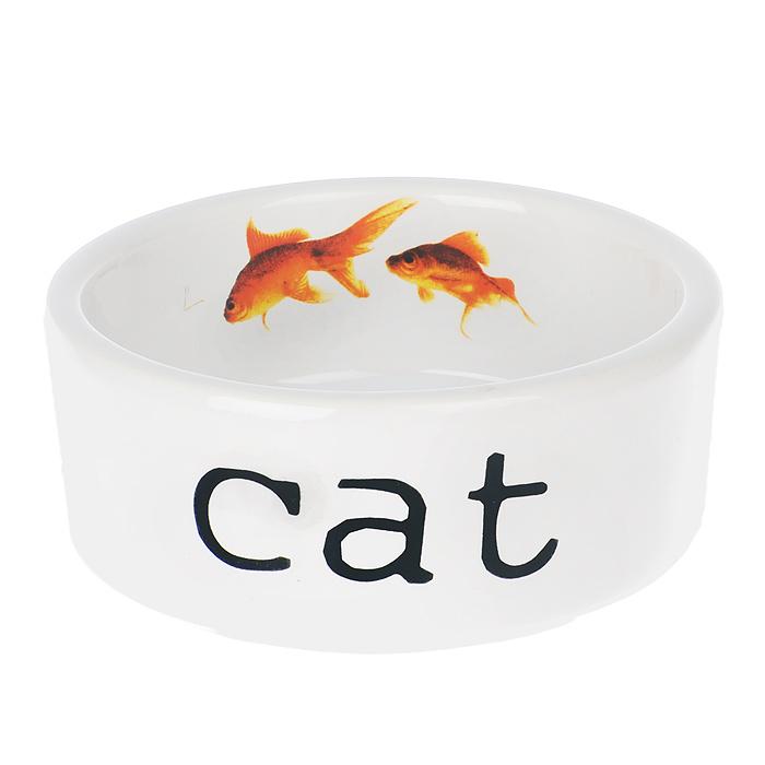 Миска для кошек I.P.T.S. Snapshot, 300 мл25937/651460Миска для кошек I.P.T.S. Snapshot изготовлена из керамики. Внешняя сторона миски оформлена надписью Cat. На внутренней стороне миски изображены две золотые рыбки. Миска предназначена для воды или корма. Объем миски: 300 мл.