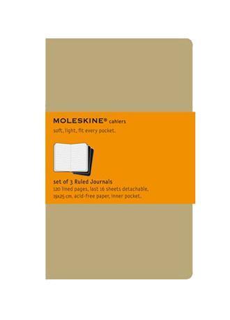 Блокнот Moleskine Cahier (в линейку) Pocket бежевая 3 штQP411ENЛегкая и компактная записная книжка Moleskine Cahier поместится в любом кармане. Записная книжка в картонной обложке без пропитки содержит 64 страницы в линейку. Неповторимые черты записной книжки Молескин: Прошитый нитками переплет; Практичные скругленные углы; Не желтеющие со временем страницы; Последние 16 листов с перфорацией для отрыва; Быстро впитывающая чернила бумага; Вместительный внутренний кармашек. Характеристики: Цвет: бежевый. Размер: 9 см х 14 см. Материал: бумага, картон. Moleskine (Молескин) - легендарная записная книжка, которой уже два столетия отдает дань любви и уважения европейская творческая интеллигенция: писатели, журналисты, художники, дизайнеры, архитекторы, актеры и музыканты. Среди знаменитых поклонников Moleskine - Эрнест Хемингуэй и Пабло Пикассо, Брюс Чатвин и Луис Сепульведа, Винсент Ван Гог и Анри Матисс, Жан-Поль Сартр и Гийом Апполлинер, Оскар Уайльд и...