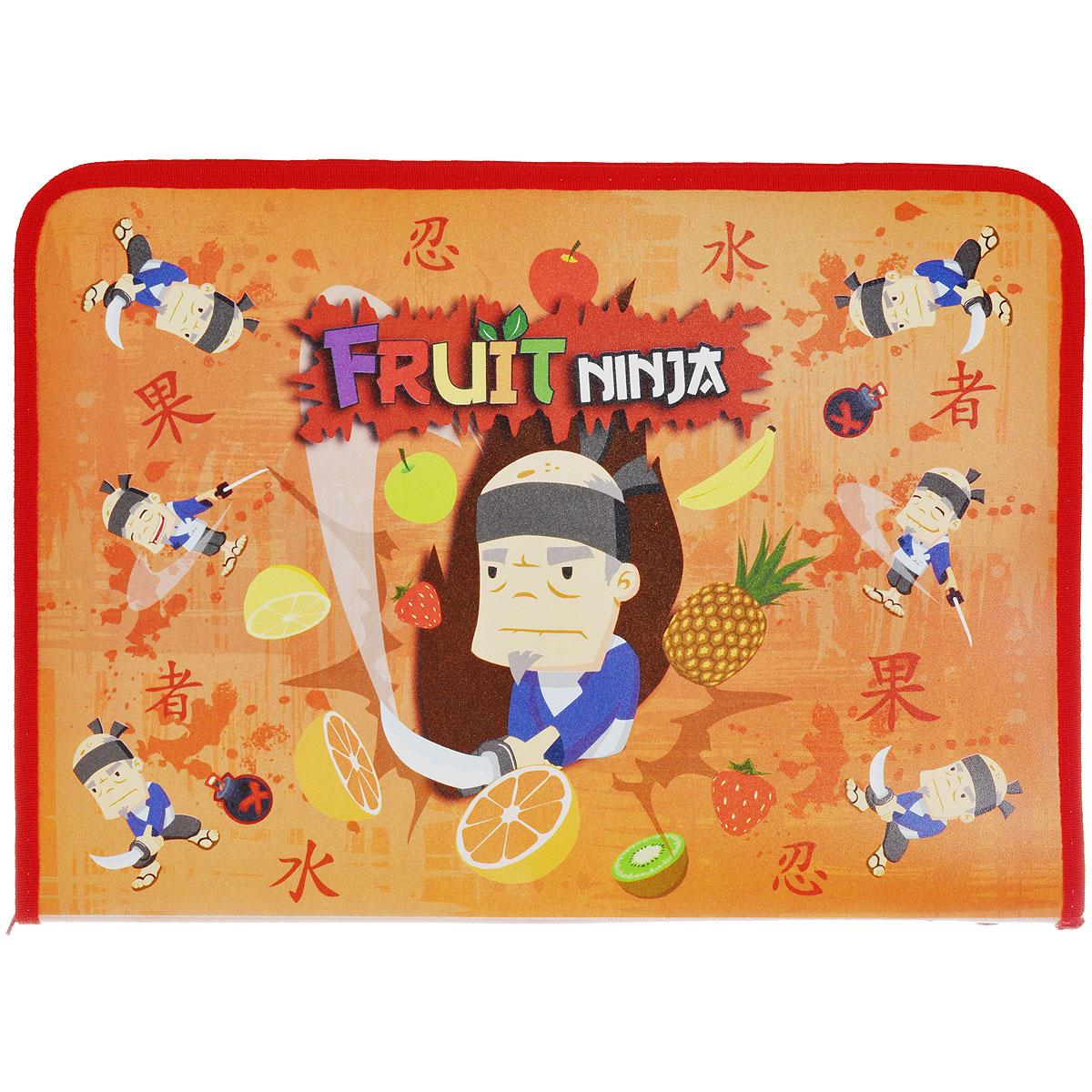 Папка для труда Action! Fruit Ninja, цвет: оранжевыйC37690/FN-FZA4-L оранжевыйПапка для труда Action! Fruit Ninja предназначена для хранения тетрадей, рисунков и прочих бумаг, а также ручек, карандашей, ластиков и точилок. Папка оформлена изображением Фруктового Ниндзя. Внутри находится одно большое отделение с вкладышем, содержащим 11 фиксаторов для школьных принадлежностей. Закрывается папка на застежку-молнию. Яркая и удобная, такая папка непременно понравится вашему ребенку.