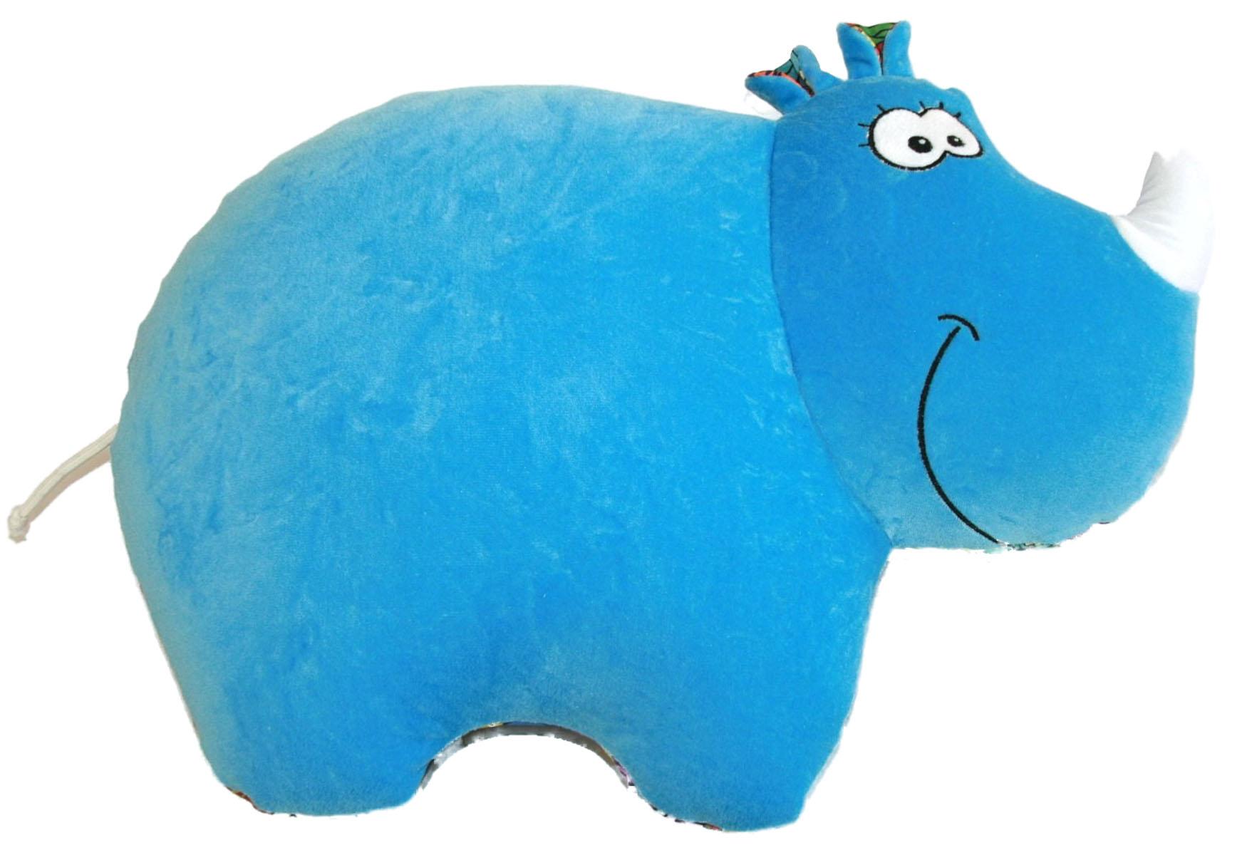 Игрушка-антистресс СмолТойс Носорог, 39 см2659/ГЛ/44Иногда так хочется отдохнуть, расслабиться и забыть обо всем. Подушка-антистресс Носорог, выполненная в виде жизнерадостного носорога, способна зарядить вас позитивом и стать аккумулятором хорошего настроения. Спереди носорог изготовлен из синего плюша,а сзади из красочного полиэстера с изображением ярких цветов. Помимо того, что антистрессовые подушки очень эффектны и красивы, они создают поистине волшебный релаксирующий эффект. Благодаря тому, что их поверхность выполнена из полиэстера, они приятны на ощупь. Но главный секрет этих моделей в их наполнителе. Внутри подушек находятся тысячи мельчайших гранул полистирола. Эти подушки легки, упруги и всегда хорошо выглядят, как бы вы их ни сжимали, они неизменно возвращают себе первоначальную форму. Подушки можно даже стирать в машинке, поместив их предварительно в специальный мешок для одежды. Идеальный рецепт хорошего настроения и здорового сна! Они подходят абсолютно всем, поскольку не вызывают аллергии....