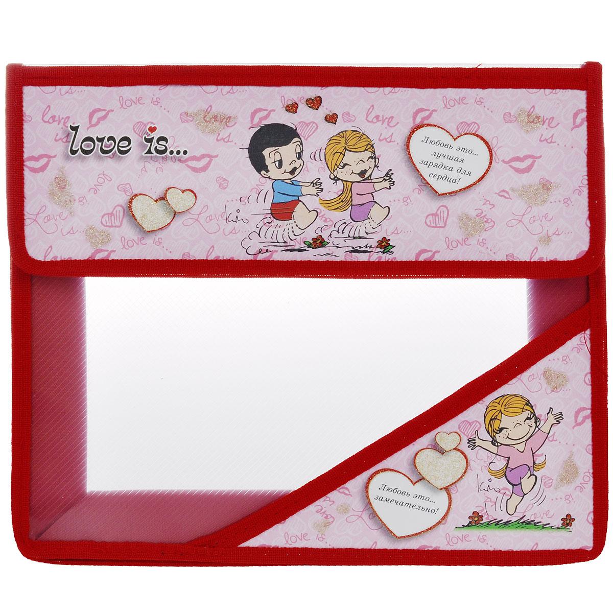 Папка для тетрадей Action! Love is, цвет: розовый, красный. C37684/LI-FA5C37684/LI-FA5 розовыйПапка Action! Love is предназначена для хранения тетрадей, рисунков и прочих бумаг с максимальным форматом А5. Папка выполнена из прочного материала и содержит одно отделение. Закрывается она клапаном на липучку. Клапан оформлен изображением двух влюбленных и надписью Любовь это... лучшая зарядка для сердца!. Стенки папки прозрачные. С папкой Action! Love is тетради вашего ребенка всегда будут выглядеть опрятно.