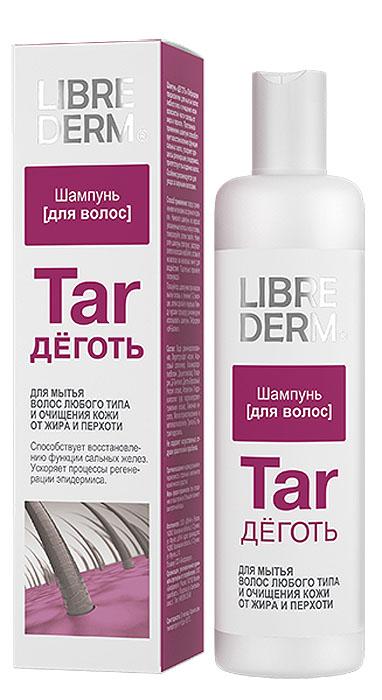 Librederm Шампунь Деготь, от перхоти, для любого типа волос, 250 мл5645Шампунь Деготь предназначен для мытья волос любого типа и очищения кожи волосистой части головы от жира и перхоти. Постоянное применение шампуня способствует восстановлению функции сальных желез, ускоряет процесс регенерации эпидермиса, препятствует выпадению волос. Особенно рекомендуется для ухода за жирными волосами. Товар сертифицирован.