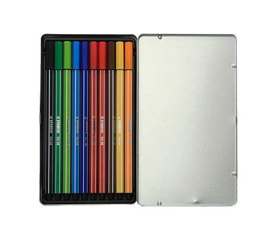 """Набор фломастеров """"Stabilo Pen"""", 10 цветов 6810-6"""
