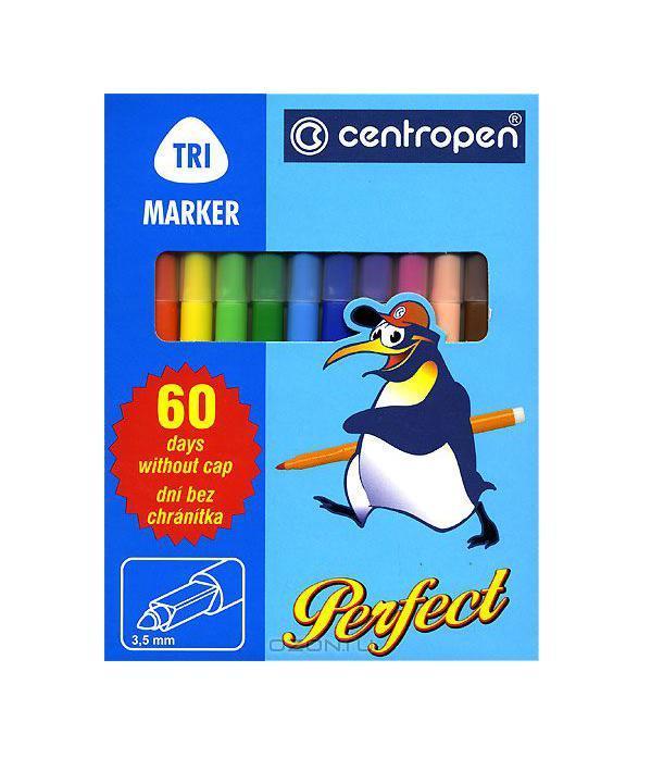 Набор фломастеров Perfect, 12 цветов2510 12Маркеры с эргономически рассчитанным местом для руки. Не высыхают при незакрытом колпачке в течение 60 дней. Смываемые чернила, круглое острие (диаметр 3,5 мм).