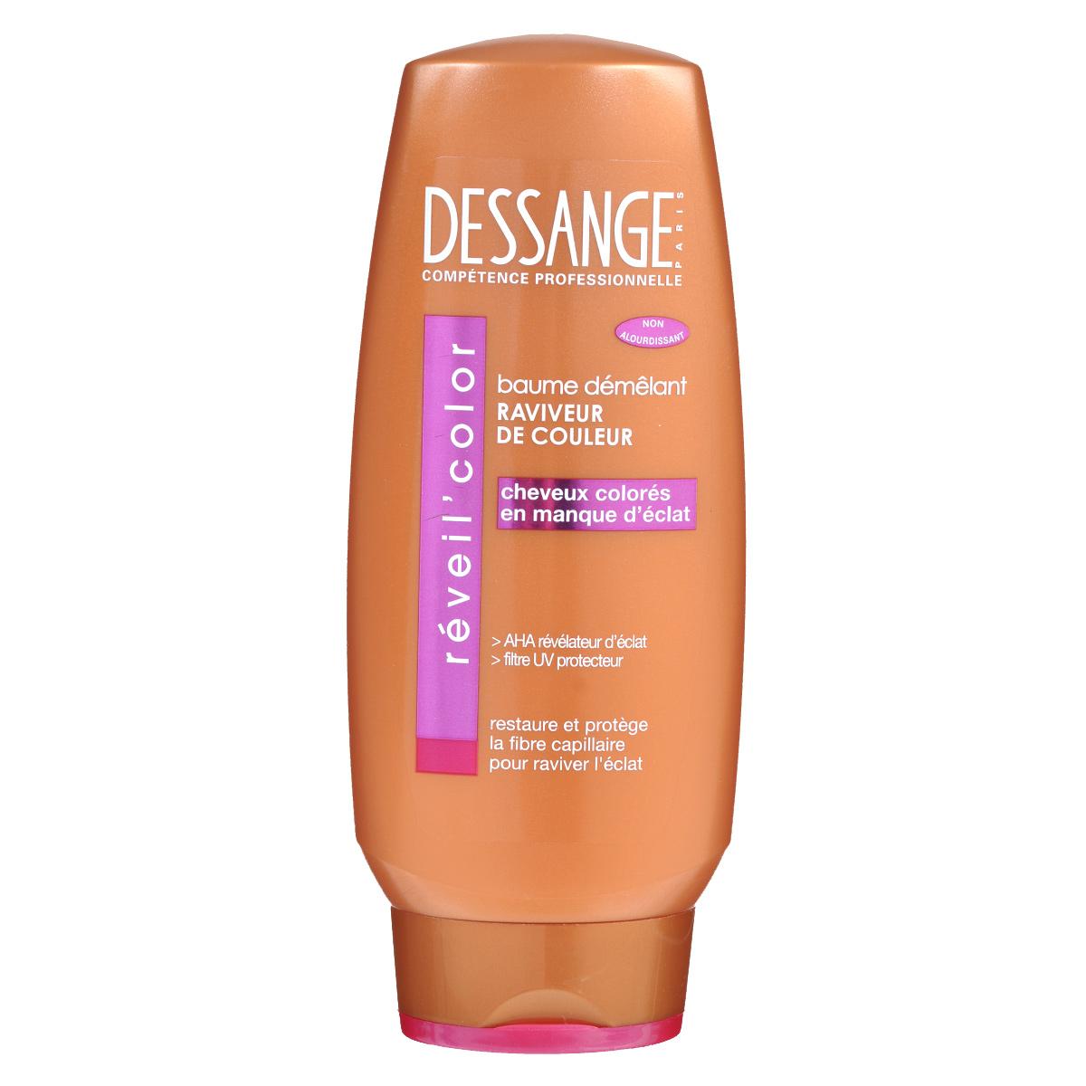 Dessange Бальзам Экстра блеск, для окрашенных волос, 200 млD0980403Бальзам Dessange Экстра блеск специально предназначен для окрашенных волос. В основе его формулы - провитамин В5 и витамин Е, обладающие антиоксидантным действием и надолго возрождающие сияние вашего оттенка и защищающие волокно волоса. День за днем волосы излучают блеск и жизненную силу! 0