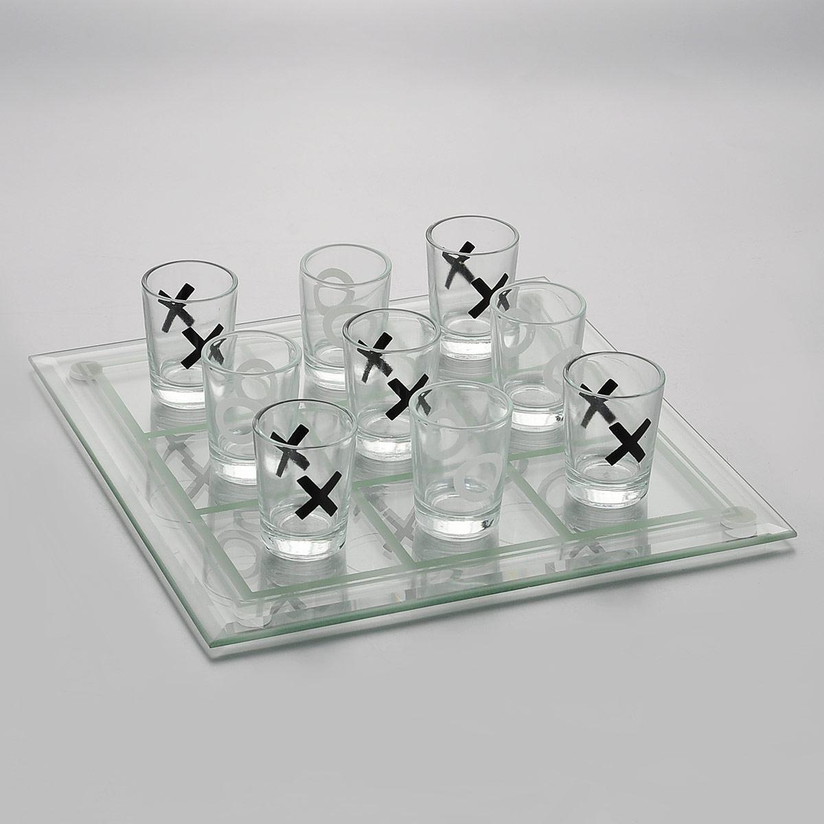 Настольная игра Пьяные крестики-нолики. 3570435704Настольная игра Пьяные крестики-нолики состоит из 9 стеклянных стопок и прозрачного разделенного на клеточки поля. Стопки оформлены изображением крестиков и ноликов. Этот набор станет занимательным подарком и украшением интерьера, который поможет отметить не только победу, но и каждый удачный ход. Удивительная находка, которая разнообразит вашу вечеринку и развеселит гостей. Теперь на любой вечеринке можно совместить интеллектуальную игру с весельем.