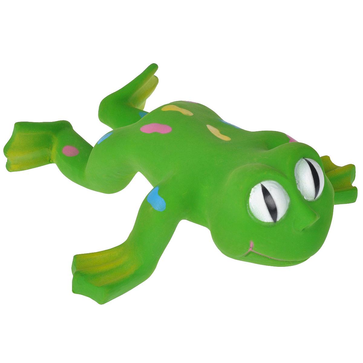 Игрушка для собак I.P.T.S. Лягушка620804Игрушка для собак I.P.T.S. Лягушка изготовлена из латекса в виде большой лягушки с цветными пятнами на спине, с пищалкой внутри. Предназначена для игр с собаками разных возрастов. Такая игрушка привлечет внимание вашего любимца и не оставит его равнодушным. Длина: 24 см.