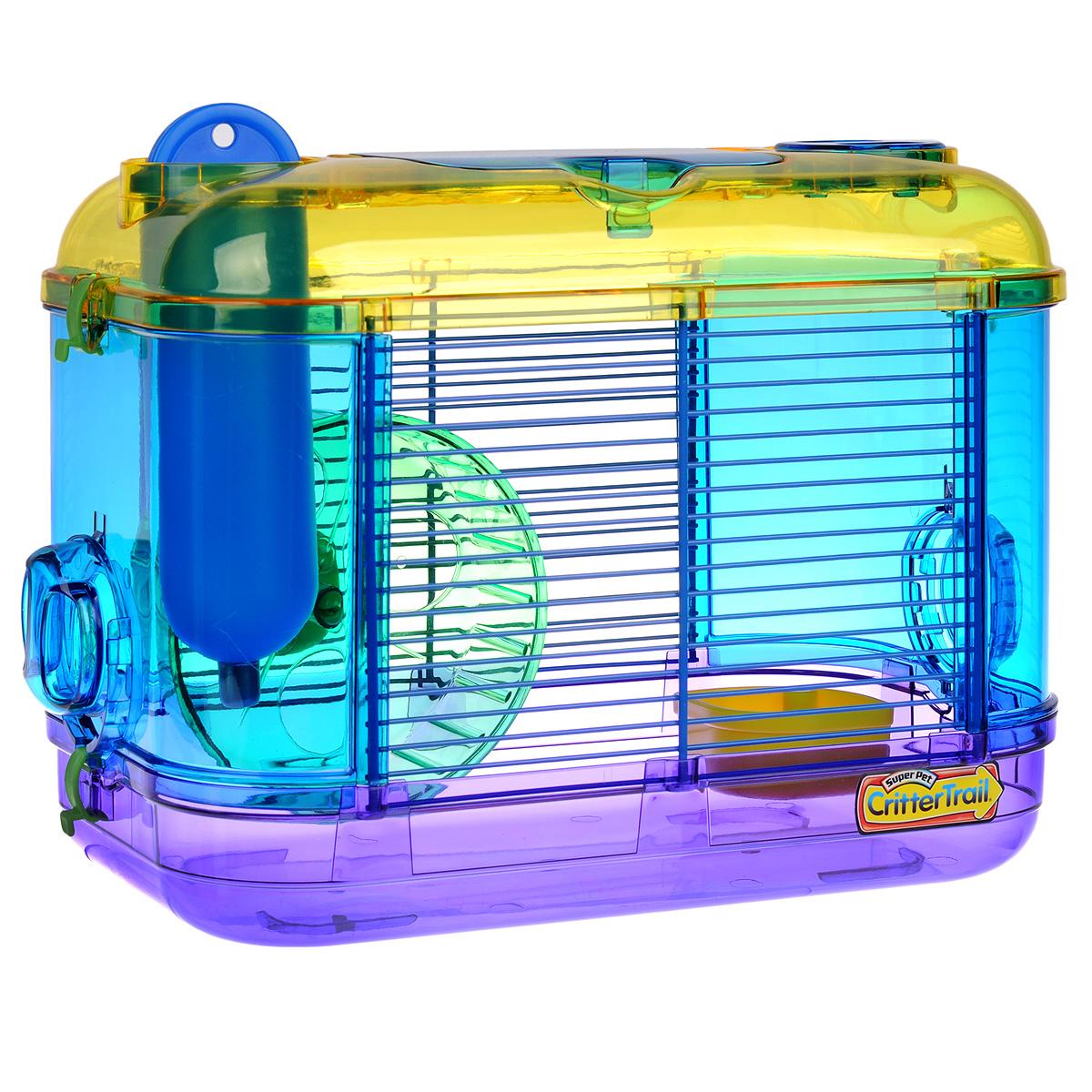Клетка для грызунов I.P.T.S. Mini, с игровым комплексом, 32 см х 20 см х 24 см285002Небольшая клетка снабжена всем необходимым для отдыха и активной жизни грызунов. Подходит для мышей, песчанок, хомяков. Клетка оборудована мини игровым комплексом, колесом для подвижных игр, кормушкой и поилкой. Клетка выполнена из прозрачного пластика. Надежно закрывается на защелки. Такая клетка станет уединенным личным пространством и уютным домиком для маленького грызуна.