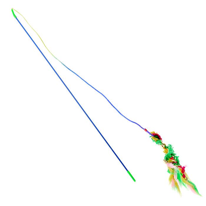 Игрушка для кошек I.P.T.S. Удочка, длина 46 см16423/430262Игрушка для кошек I.P.T.S. Удочка прекрасно подойдет для веселых игр вашего пушистого любимца. Игрушка представляет собой пластиковый стержень с разноцветными хвостиками и бубенчиками. Длина игрушки: 46 см.