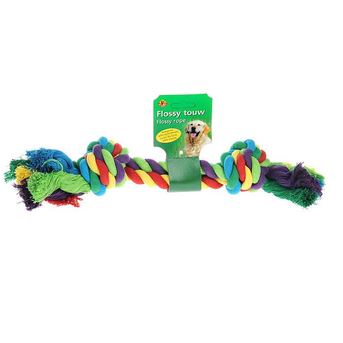 Игрушка для собак I.P.T.S. Канат с 2-мя узлами, цвет: красный, зеленый, фиолетовый641141Игрушка для собак I.P.T.S. Канат с 2-мя узлами изготовлена из прочного текстиля в виде каната с двумя завязанными узлами на концах. Специальная форма позволяет тренировать и развивать челюсть собаки. Игрушка предназначена для игр с собакой любого возраста. Такая игрушка привлечет внимание вашего любимца и не оставит его равнодушным. Длина: 40 см.