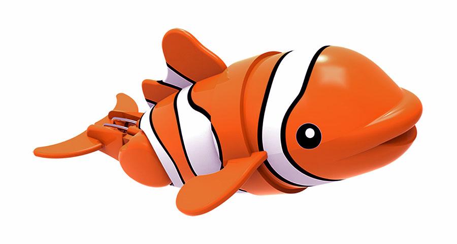 Игрушка для ванны Renwood Рыбка-акробат Санни, цвет: оранжевый, белый126211-1Игрушка для ванны Renwood Рыбка-акробат понравится вашему малышу и превратит купание в веселую игру. Она выполнена из безопасного пластика в виде маленькой красочной рыбки. Рыбка-акробат умеет плавать и нырять. Траектория движения игрушки зависит от наклона хвоста. Порадуйте вашего ребенка таким замечательным подарком! Игрушка работает от 2 батарей напряжением 1,5V типа ААА (не входят в комплект).