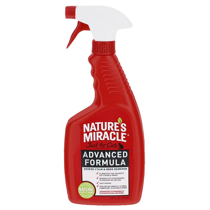 Уничтожитель запахов и пятен 8 in 1 Natures Miracle, с усиленной формулой для кошек, 710 мл5057235
