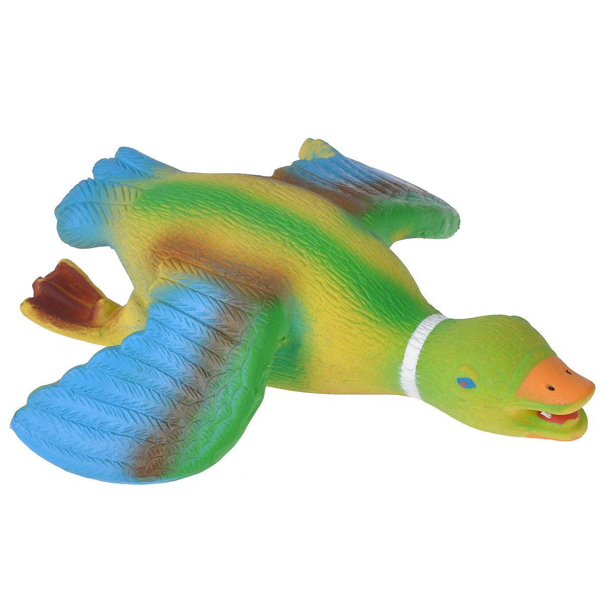 Игрушка для собак I.P.T.S. Утка с крыльями620800Игрушка для собак I.P.T.S. Утка с крыльями изготовлена из яркого цветного латекса в виде летящей утки. Предназначена для игр с собаками разных возрастов. Такая игрушка привлечет внимание вашего любимца и не оставит его равнодушным. Длина: 20,5 см.