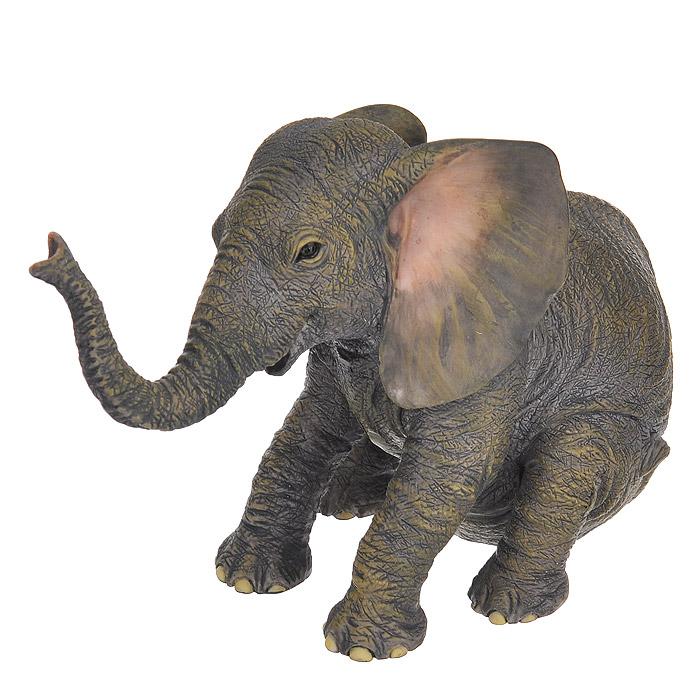 Статуэтка Veronese Слоненок, цвет: серый, высота 10,5 смVWU75410AAALДекоративная статуэтка Veronese Слоненок изготовлена из полистоуна. Фигурка выполнена в виде сидячего слоненка. Вы можете поставить статуэтку в любом месте, где она будет удачно смотреться и радовать глаз. Такая фигурка прекрасно дополнит интерьер офиса или дома.