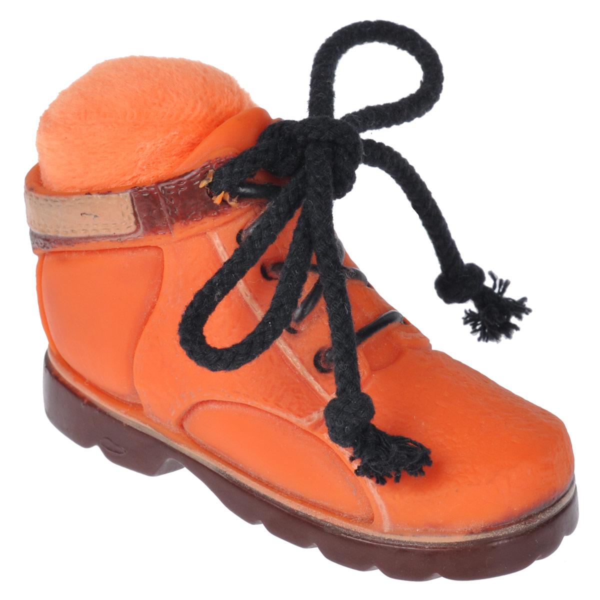 Игрушка для собак Beeztees Ботинок, цвет: оранжевый24887 (620900)Игрушка Beeztees Ботинок изготовлена из винила с использованием только безопасных, не токсичных красителей. Великолепно подходит для игры и массажа десен вашей собаки. При надавливании или захвате пастью пищит. Такая игрушка порадует вашего любимца, а вам доставит массу приятных эмоций, ведь наблюдать за игрой всегда интересно и приятно.