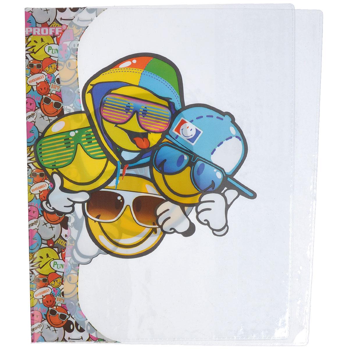 Набор обложек для тетрадей и дневников Proff Smiley, 35,5 см х 21 см, 6 штSM14-TBSL1Прозрачная обложка Proff Smiley защитит поверхность тетради или дневника от изнашивания и загрязнений. Она выполнена из прочного ПВХ и оформлена изображениями забавных смайликов. В набор входят 6 обложек.