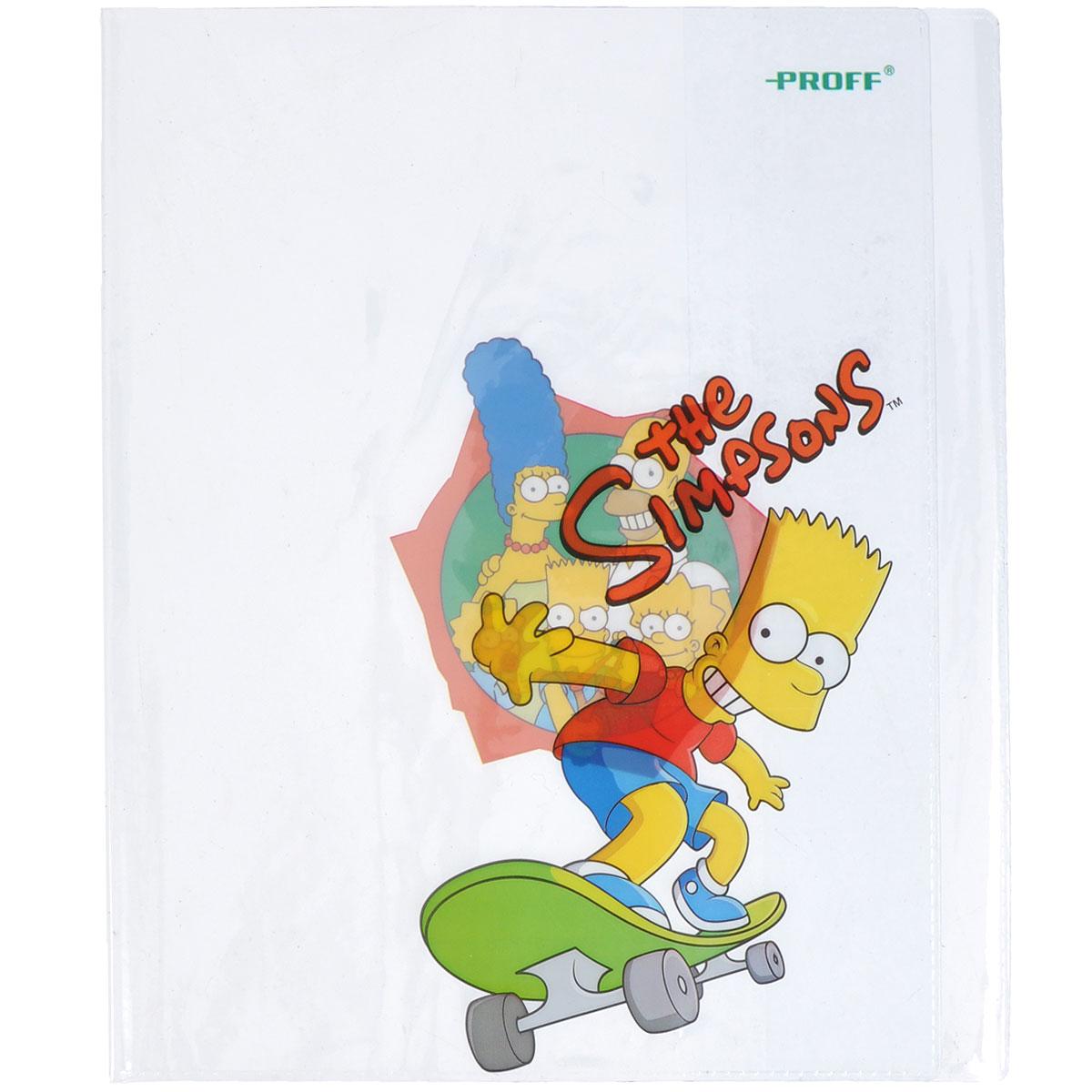 Набор обложек для тетрадей и дневников Proff The Simpsons, 35,5 см х 21 см, 6 штSI14-TBSL1Прозрачная обложка Proff The Simpsons защитит поверхность тетради или дневника от изнашивания и загрязнений. Она выполнена из прочного ПВХ и оформлена изображениями членов семьи Симпсон. В набор входят 6 обложек.