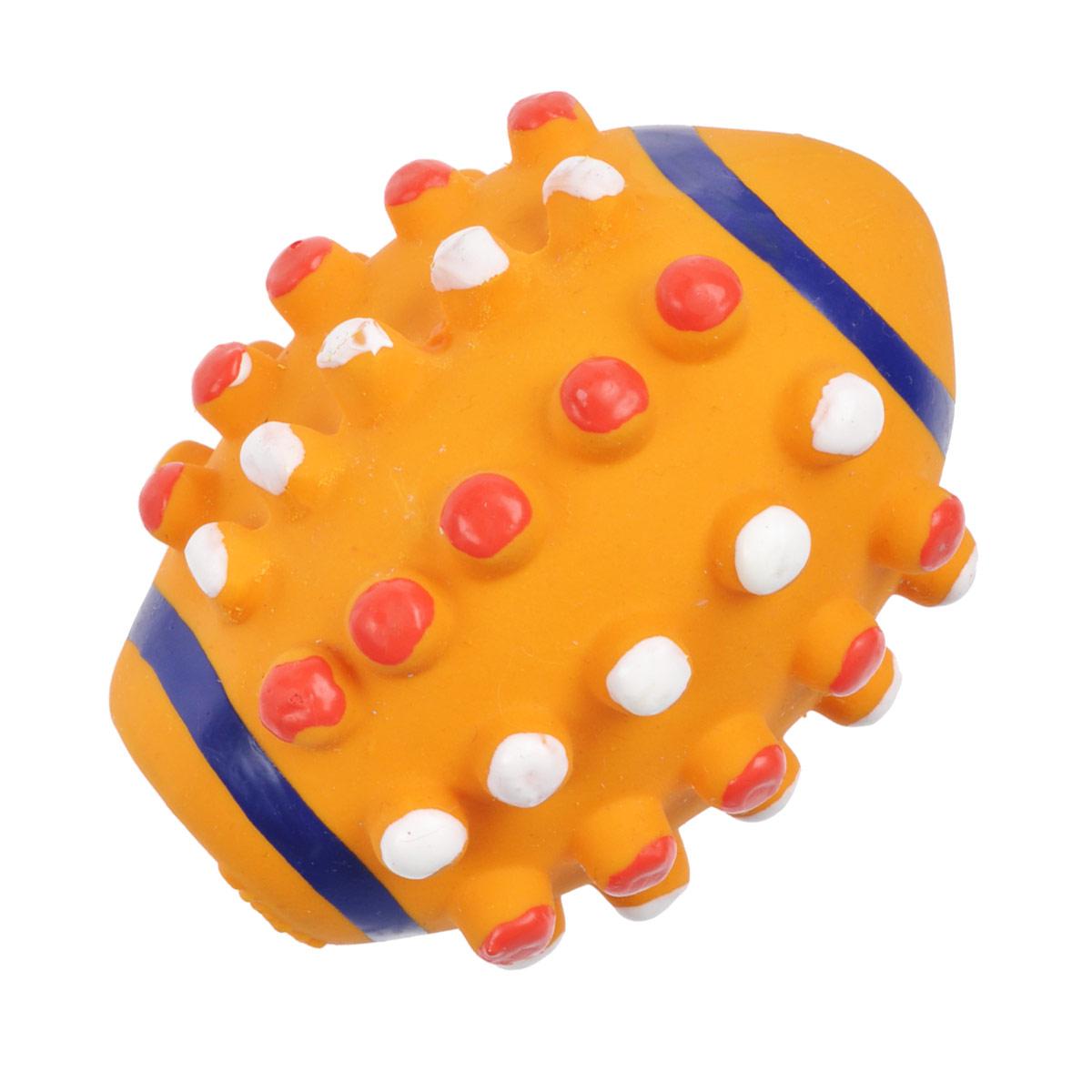Игрушка для собак I.P.T.S. Мяч регби, цвет: оранжевый16375/620853Игрушка I.P.T.S. Мяч регби изготовлена из латекса с использованием только безопасных, не токсичных красителей. Такая игрушка порадует вашего любимца, а вам доставит массу приятных эмоций, ведь наблюдать за игрой всегда интересно и приятно. Оставшись в одиночестве, ваша собака будет увлеченно играть в эту игрушку. Диаметр: 10 см.
