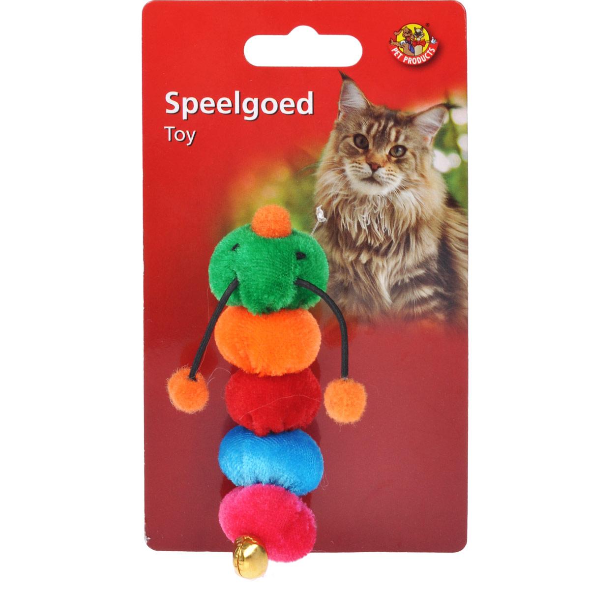 Игрушка для кошек I.P.T.S. Гусеница37608/440502Забавная игрушка для кошек I.P.T.S. Гусеница состоит из цветных сегментов. Игрушка изготовлена из мягкого плюша. Предназначена для активных игр с кошкой. Такая игрушка привлечет внимание вашего любимца и не оставит его равнодушным. Длина: 9,5 см.