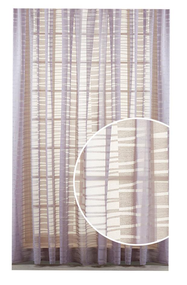 Штора Primavelle Oriana, на ленте, цвет: лилово-серый, высота 270 см. 61781427-O3961781427-O39Элегантная штора Primavelle Oriana выполнена из 50% вискозы и 50% полиэстера. Полупрозрачная легкая ткань и приглушенная гамма привлекут к себе внимание и органично впишутся в интерьер помещения. Оригинальный геометрический дизайн внесет в ваш дом динамичный европейский стиль. Такие шторы идеально подходят для солнечных комнат. Мягко рассеивая прямые лучи, они хорошо пропускают дневной свет и защищают от посторонних глаз. Отличное решение для многослойного оформления окон! Эта штора будет долгое время радовать вас и ваших близких! Штора крепится на карниз при помощи ленты, которая поможет красиво и равномерно задрапировать верх.