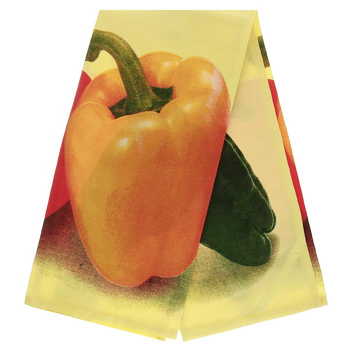 Полотенце кухонное Коллекция Перец, 50 см х 70 смПТФ-3/пПолотенце Коллекция, выполненное из полиэстера и хлопка, оформлено изображением перцев. Полотенце предназначено для использования на кухне и в столовой. С помощью специальной петельки полотенце можно вешать на крючок. Полотенце Коллекция Перец - отличный вариант для практичной и современной хозяйки.