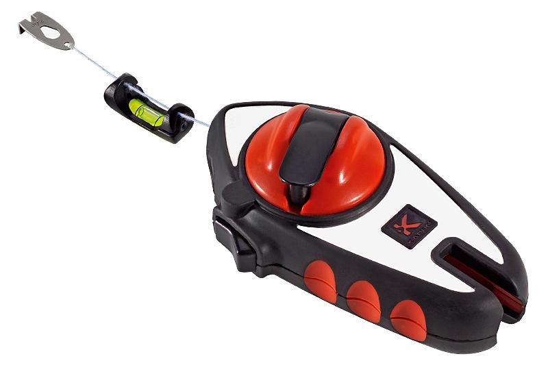 Шнур отбивочный Kapro, со съемным подвесным уровнем, 30 м215Отбивочный шнур Kapro может использоваться двумя способами: для разметки с помощью мелового порошка и в качестве отвеса. Корпус выполнен из нержавеющей стали. Шнур оснащен съемным подвесным уровнем. 6-кратное увеличение скорости сматывания.