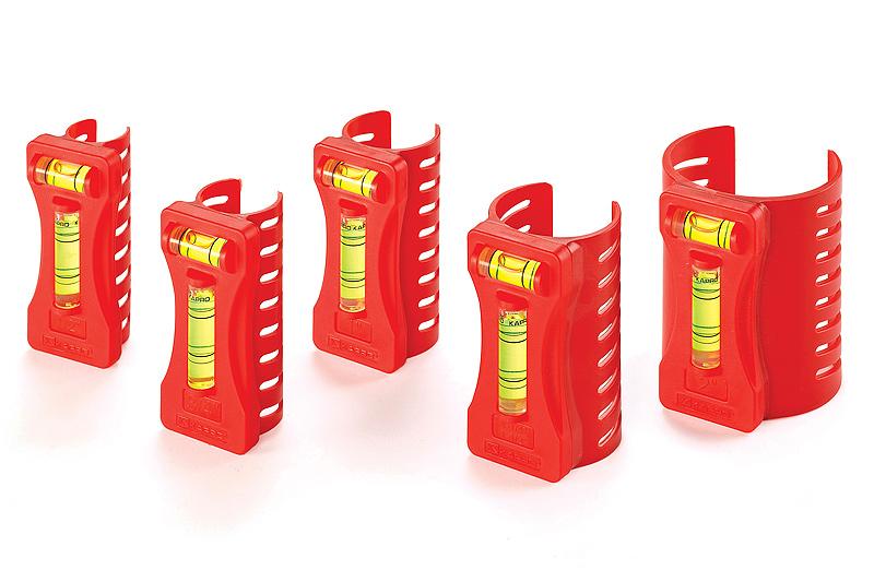 Набор уровней Kapro для труб, 5 шт350Набор уровней Kapro используется при необходимости контроля угла наклона труб. Уровни изготовлены из пластика. Типоразмеры труб: 1/2, 3/4, 1, 1-1/4 и 1-1/2, 2.