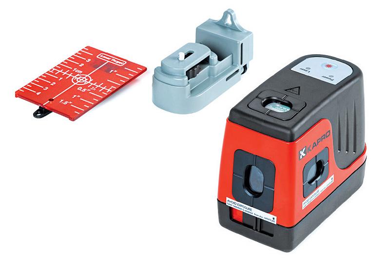 Указатель самовыравнивающийся лазерный Kapro896Самовыравнивающийся лазерный указатель Kapro предназначен для планировки стенных каркасов и установки перегородок, планировки электрических розеток и переключателей, обрамления комнат, окон и дверей, столярных работ, передачи точек, вертикального и горизонтального выравнивания. Питается от 2 батареек типа АА (входят в комплект). Характеристики: Диапазон самовыравнивания ±4°. Резиновое покрытие. Работа с одной кнопкой - быстро и легко. Возможность установки на штатив. Дальность действия лазера: до 30 м с мишенью. Точность лазера: Уровень - 0,4 мм/м. Верхний отвес - 0,5 мм/м. Нижний отвес: 0,75 мм/м.