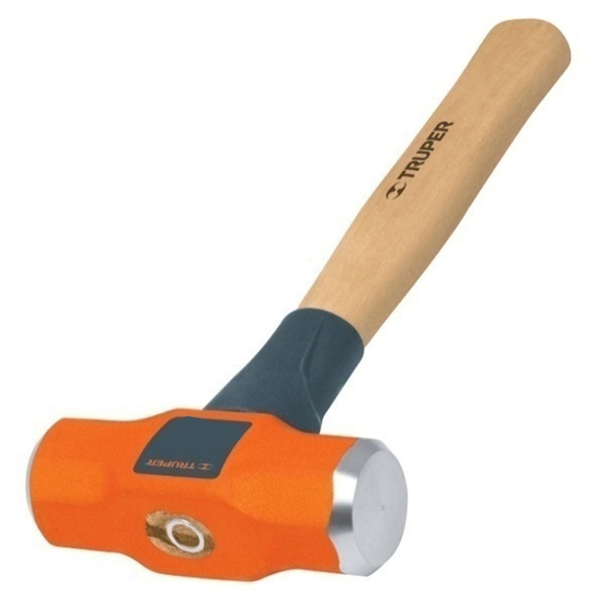 Кувалда Truper, с деревянной рукояткой, 1,3 кгMD-3MКувалда Truper предназначена для нанесения исключительно сильных ударов при обработке металла, на демонтаже и монтаже конструкций. Деревянная ручка с антишоковой защитой, изготовленная из дуба, обеспечивает надежный хват. Финишная обработка бойка.