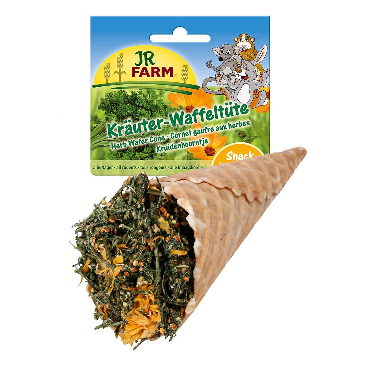 Лакомство для грызунов JR Farm Травы ассорти в вафельном рожке, 60 г10889Лакомство для грызунов JR Farm Травы ассорти в вафельном рожке - дополнительный корм для карликовых кроликов, морских свинок, крыс, хомяков, дегу, мышей и шиншилл. Имеется специальный держатель для крепления лакомства на клетку. Состав: вафельный рожок, петрушка, желтое просо, красное просо, кукурузные хлопья, крахмал. Вес: 60 г. Товар сертифицирован.