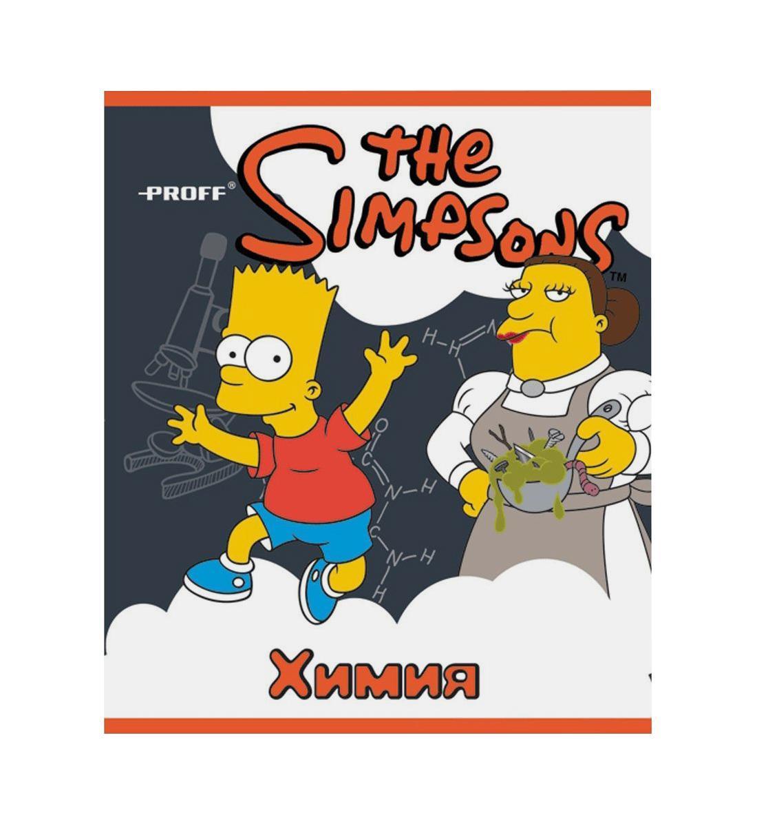Тетрадь Proff The Simpsons The Simpsons SI14-CEBS48SI14-CEBS48Разметка: В клетку. Формат: А5. Обложка: Картон, . Пол: Унисекс. Возраст: Средние классы. Крепление: Скрепки.