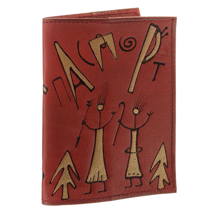 Обложка для паспорта Тропсап, цвет: красный. АНТ160614-13АНТ160614-13Обложка для паспорта Тропсап изготовлена из натуральной кожи и оформлена оригинальным рисунком. На развороте содержатся два пластиковых кармашка. Такая обложка не только поможет сохранить внешний вид ваших документов и защитит их от повреждений, но и станет стильным аксессуаром, идеально подходящим вашему образу. Оригинальная обложка подчеркнет вашу индивидуальность и изысканный вкус, а яркий рисунок всегда поднимет настроение. Рекомендации по уходу: не замачивать в воде, при необходимости протереть влажным ватным тампоном.