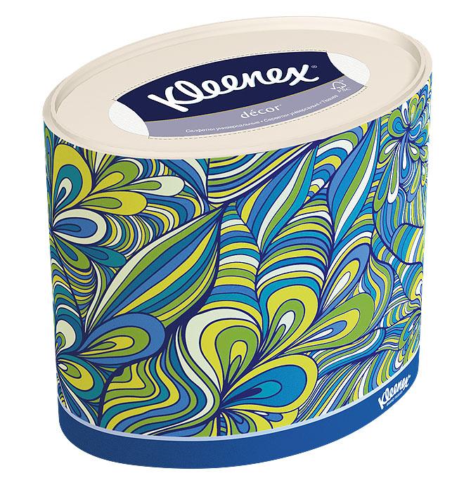 Салфетки универсальные Kleenex Decor, трехслойные, 21 х 20 см, 64 шт26083186Трехслойные, мягкие, гигиенические салфетки Kleenex Decor изготовлены из высококачественного, экологически чистого сырья - 100% целлюлозы. Салфетки обладают большой впитывающей способностью. Не вызывают аллергию, не раздражают чувствительную кожу. Благодаря уникальной мягкости, салфетки заботятся о вашей коже во время простуды. Просты и удобны в использовании. Применяются дома и в офисе, на работе и отдыхе. Для хранения салфеток предусмотрена специальная коробочка. Новый и уникальный формат салфеток на российском рынке - овал! Красивый и модный дизайн упаковки, соответствующий последним трендам в дизайне интерьера. Настоящий премиум продукт по форме и содержанию. Товар сертифицирован.