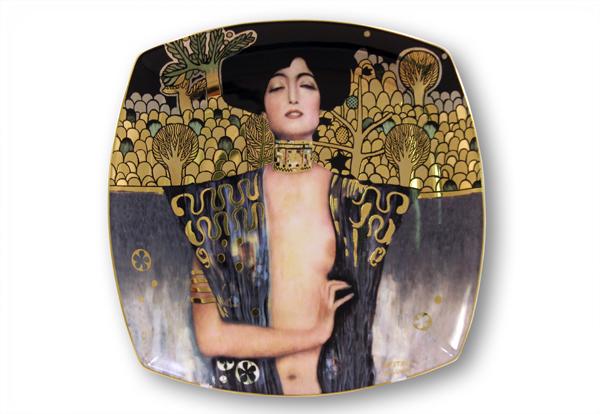 Тарелка ЮдифьGO66884883ALМатериал: Фарфор. Цвет: Желтый, черный. Серия: Klimt.