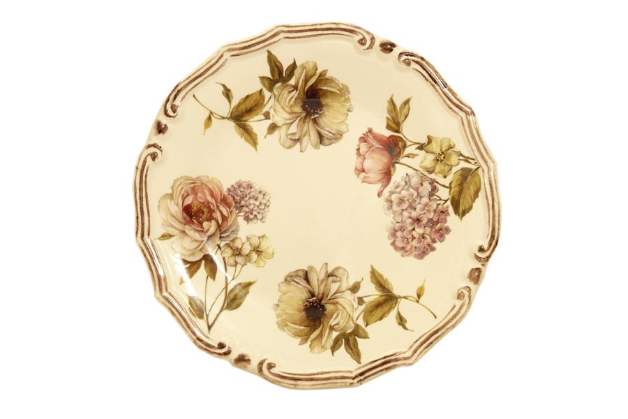 Набор десертных тарелок LCS Сады Флоренции, диаметр 21 см, 2 штLCS053PF-BO-ALНабор LCS Сады Флоренции состоит из двух десертных тарелок, выполненных из высококачественной керамики. Изделия оформлены изящным цветочным рисунком. Края тарелок рельефные. Изящные тарелки прекрасно оформят праздничный стол и порадуют ваших гостей изысканным дизайном и формой.