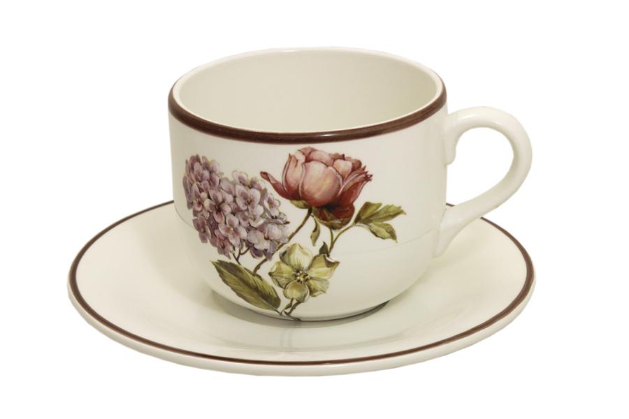 Чашка с блюдцем LCS Сады Флоренции, 500 млLCS933TP-BO-ALЧашка с блюдцем LCS Сады Флоренции изготовлены из высококачественной керамики молочного цвета и оформлены изображением цветов. Набор идеально подойдет для чая и придется по вкусу и ценителям классики, и тем, кто предпочитает утонченность и изысканность.