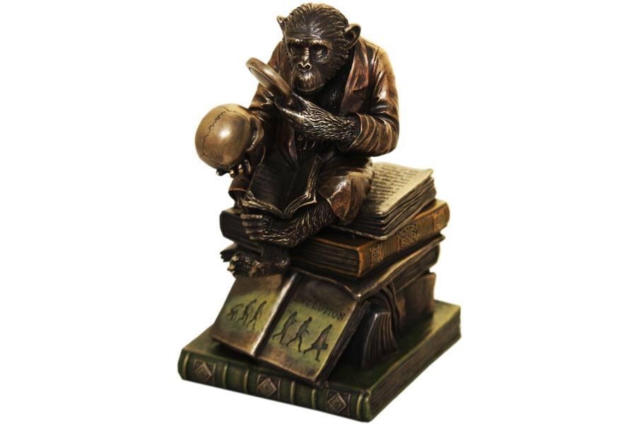 Статуэтка-шкатулка Ученная обезьянаVWU76129A4ALПолистоун 19 см