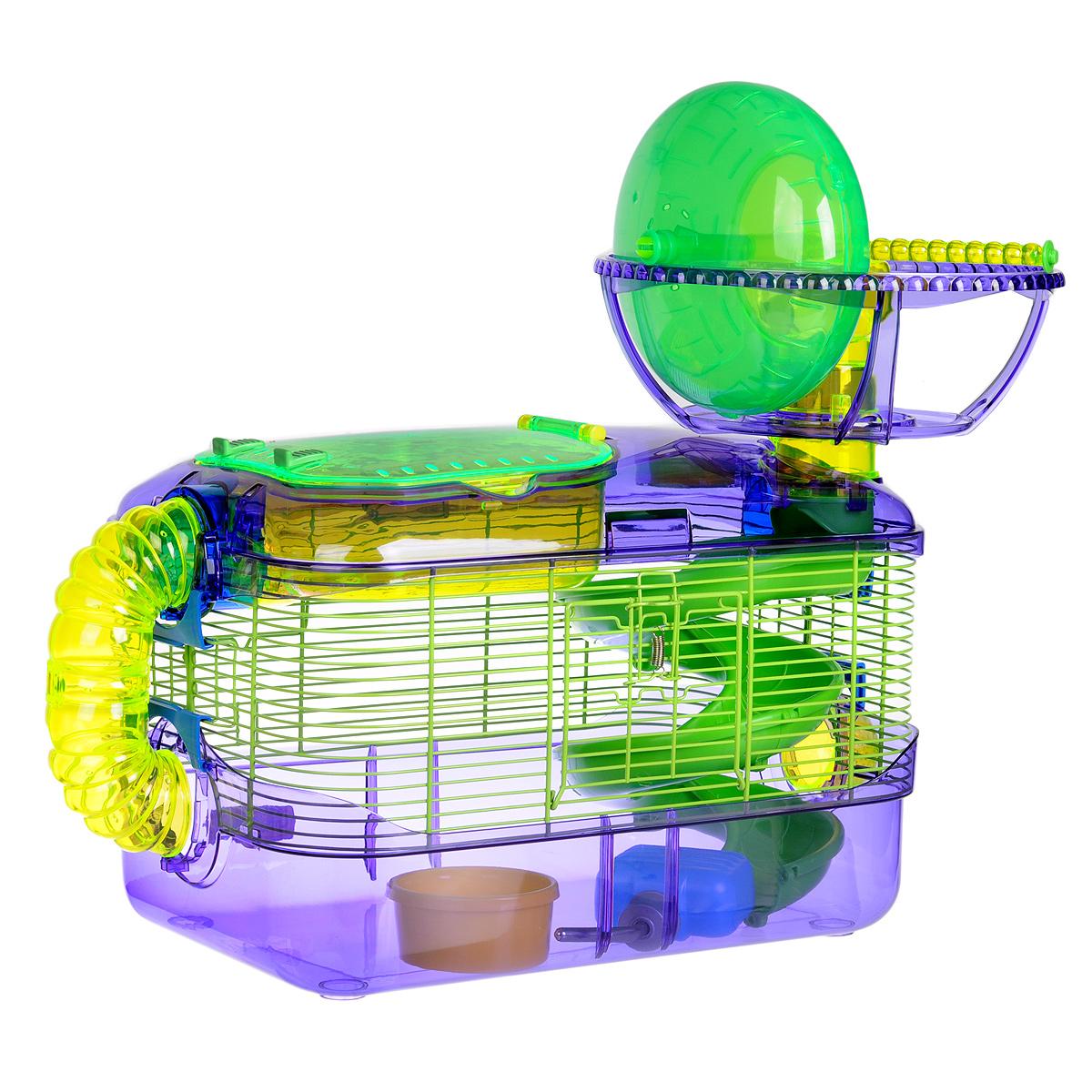 Клетка для грызунов I.P.T.S. X-treme, с игровым комплексом, 54 см х 32 см х 46 см24877/285012Просторная клетка для грызунов I.P.T.S. X-treme будет служить домом и одновременно местом для экстремальных развлечений. Лабиринты, разные уровни, колесо для упражнений, специальная труба для передвижения - все это позволит грызуну всегда оставаться в хорошей физической форме. Клетка снабжена кормушкой и поилкой. Такая клетка станет уединенным личным пространством и уютным домиком для маленького грызуна.