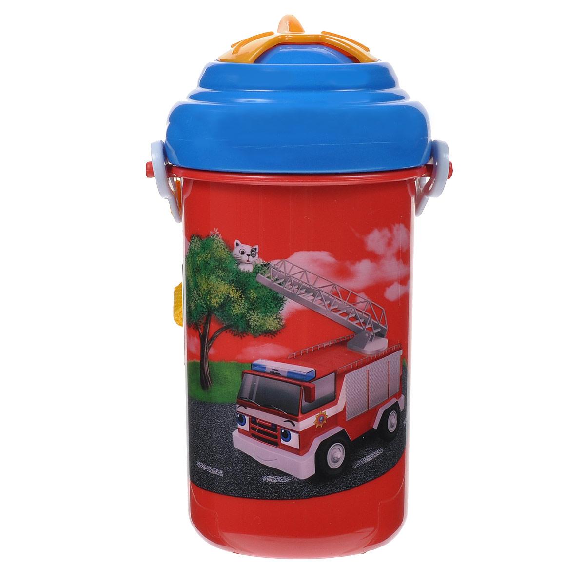 Canpol Babies Поильник Пожарная машина с подвижной трубочкой 350 мл