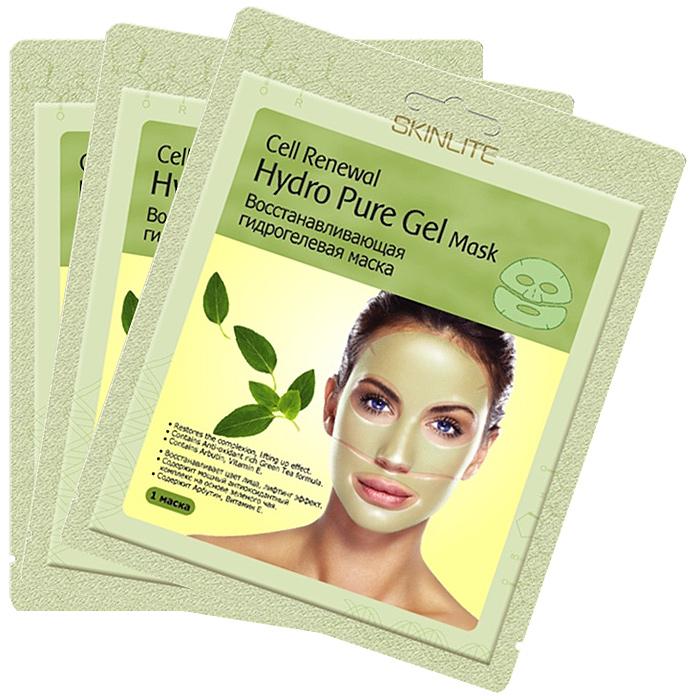 Skinlite Набор гидрогелевых масок для лица Cell Renewal, восстанавливающих, 3 штSL-253Восстанавливающая гидрогелевая маска Cell Renewal: Восстанавливает цвет лица, лифтинг эффект; Содержит мощный антиоксидантный комплекс на основе зеленого чая; Содержит Арбутин, Витамин Е. Уникальная основа из тончайшего гидрогеля позволяет маске абсолютно плотно прилегать к коже лица и, благодаря этому, достигается максимальный эффект проникновения активных ингредиентов в клетки кожи. Входящие в состав маски Арбутин, Бетаглюкан, экстракт зеленого чая, витамин Е и другие натуральные компоненты оказывают глубоко увлажняющее, восстанавливающее воздействие. Осветляют пигментные пятна, разглаживают и подтягивают кожу. Во время процедуры Вы заметите, что вместе с поглощением кожей активных ингредиентов, маска становится тоньше. Результат: После применения маски кожа выглядит значительно моложе: цвет лица сияет, излучая энергию молодости, а кожа становится ровной и гладкой. Способ применения: 1. Тщательно вымойте и...